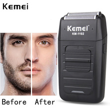 Kemei KM 1102ไร้สายสำหรับผู้ชายTwin Blade Beard ReciprocatingมีดโกนFace Care Multifunction Strong Trimmer