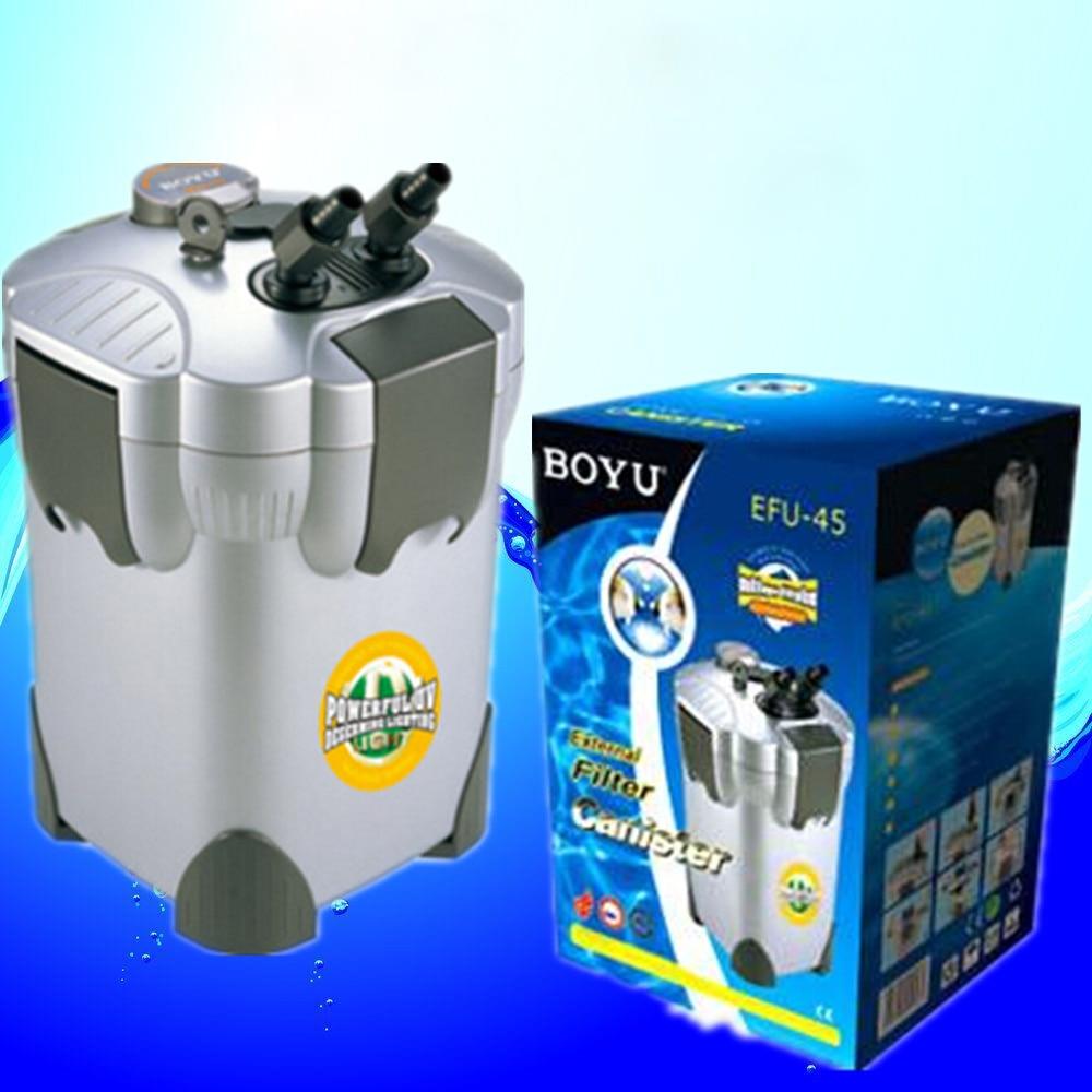 Boyu aquarium fish tank external filter canister ef 05 - 36w 1100l H Boyu Efu 45 4 Stage External Aquarium Canister Filter With