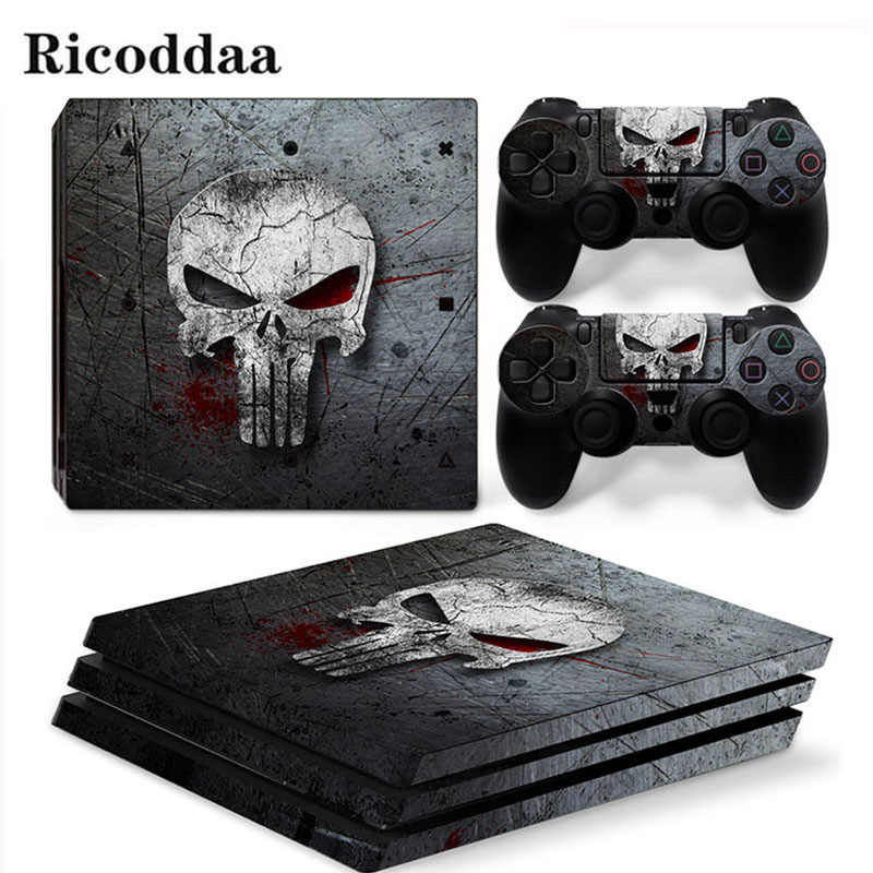 Viny Decal Sticker For PS4 Pro Console + 2 Controller Skin Sticker For Sony Playstation 4 Pro Game Accessories