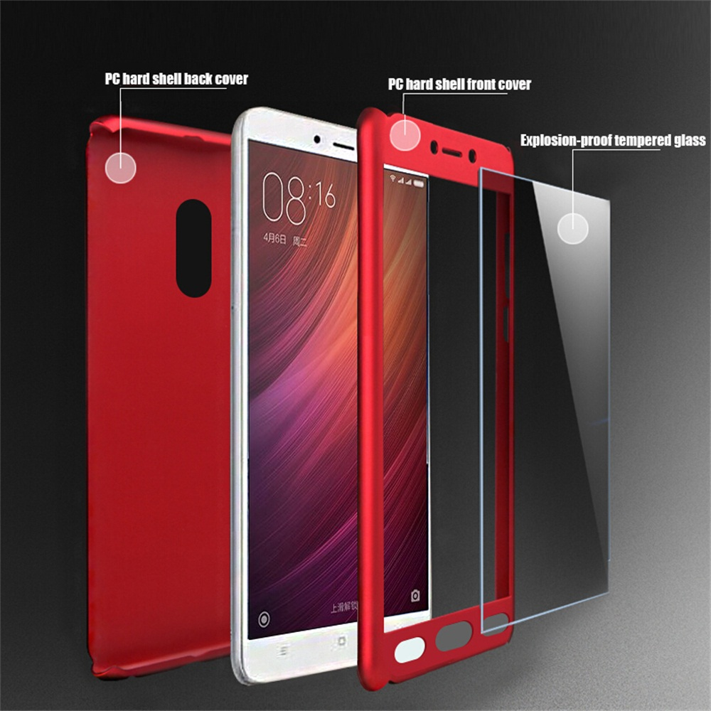 360 Full Protection Case For Xiaomi Redmi 6 5 5A 6Plus 4 5Plus 4A 4X Note 4 5Pro 4X 5A 3G 4G Phone Cover Cases With Flim