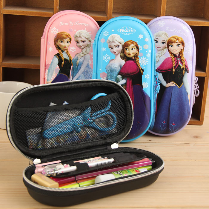 fronzen theme school pencil case cartoon cute school pencil case pencil bag for girl pencil case for girl large kids boys girl sosw fashion anime theme death note cosplay notebook new school large writing journal 20 5cm 14 5cm