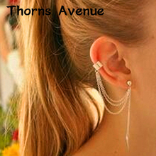 цена на New Fashion 1 PC 2 Colors Punk Ear Cuff Clip Earrings Earcuff Clip On Earrings Non-allergy Clip Earrings For Women Jewelry