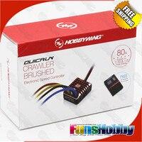 Hobbywing QuicRun 1 10 1 8 WP Crawler Brush Brushed 80A Electronic Speed Controller Waterproof ESC
