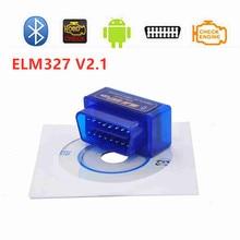 ELM327 Latest Version V2.1 New Auto OBD Scanner Code Reader Tool Car Diagnostic Tool Super MINI ELM 327 Bluetooth For Android 2017 new version elm 327 v1 5 obd 2 elm327 usb interface scanner diagnostic tool cable code support obd ii protocols
