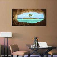 Island Cave Canvas Wall Art Paintings (Wood Frame Ready to Hang) for Wall Decor Printed on Canvas Home Decor Drop shipping