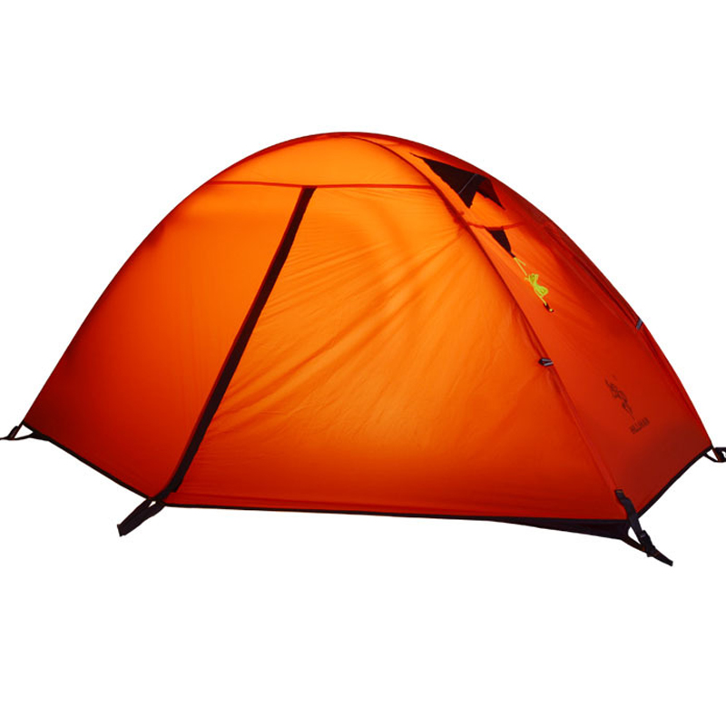 2017 HillMan Tent 20D Silicone Fabric Ultralight 1 Person Double Layers Aluminum Rod Hiking Single Tent 4 Season 2 Colors 3kg ultralight camping tent 2 3person coated with 20d silicon double layers aluminum rod snow mountain keep warm tents