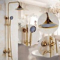High Pressure Shower Head Bronze Panel Streamline Water Saving Round Bathroom Holes Shower Head antique brass shower