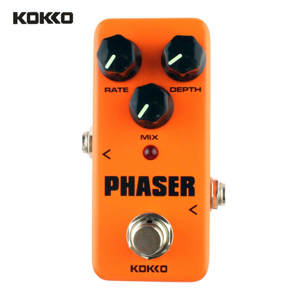 KOKKO FPH2 Phaser Mini Electric Guitar Effect Pedal Warm Analog Phase Effect Sound Processor True Bypass Guitar Accessories New mooer mini ensemble king electric guitar effect pedal true bypass pure analog chorus sound