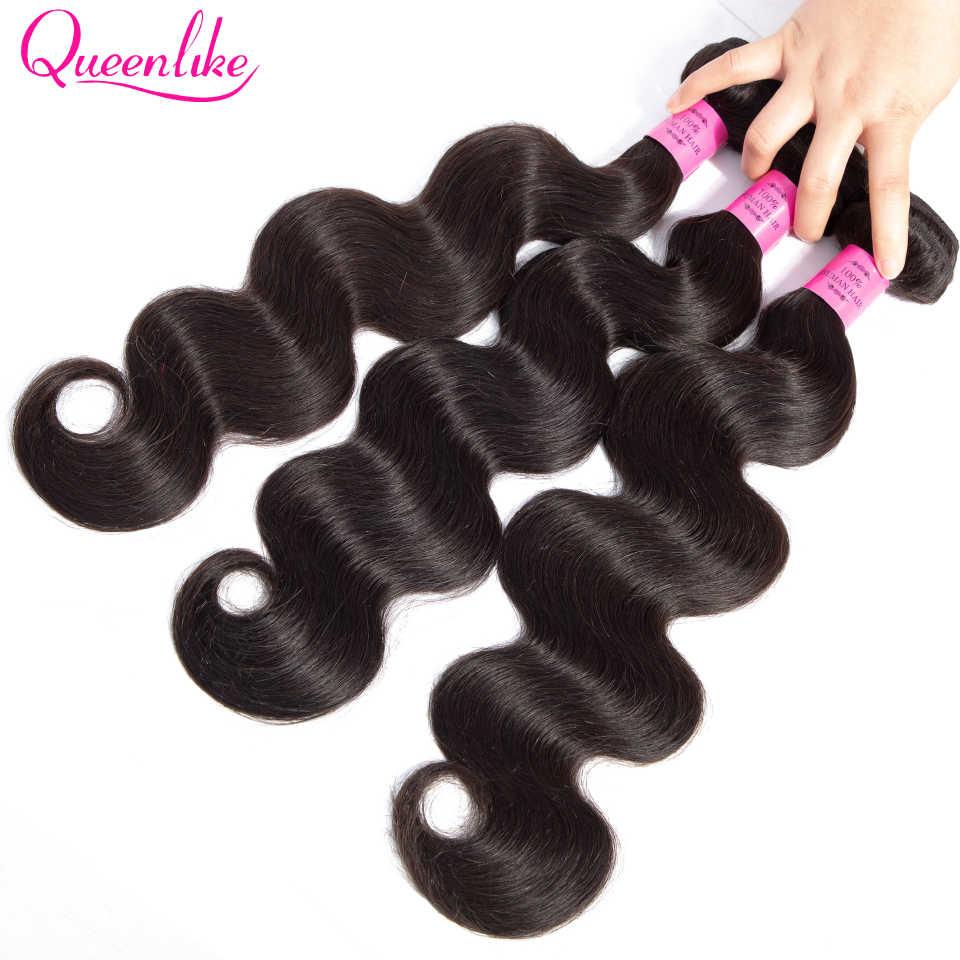 Queenlike 3 Связки с 4x6 синтетическое закрытие шнурка волос натуральные волосы 100% не Реми бразильские волосы Weave средства ухода за кожей волна