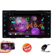 Free Reversing Camera+2 din android 6.0 2din Car Radio Double Car DVD GPS Player GPS Navigation In dash Car DVD PC Stereo video