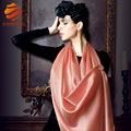 new 2014 women's Spring100% pure mulberry silk plain scarf large long design famous brand solid color silk shawls scarf pashmina