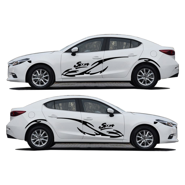 2pcs car styling for mazda 3 sport waterproof car whole body sticker hatchback sedan vehicle stickers