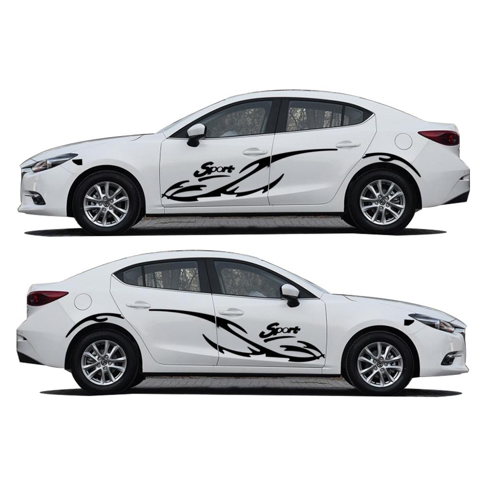 Car full body sticker design - 2pcs Car Styling For Mazda 3 Sport Waterproof Car Whole Body Sticker Hatchback Sedan Vehicle Stickers