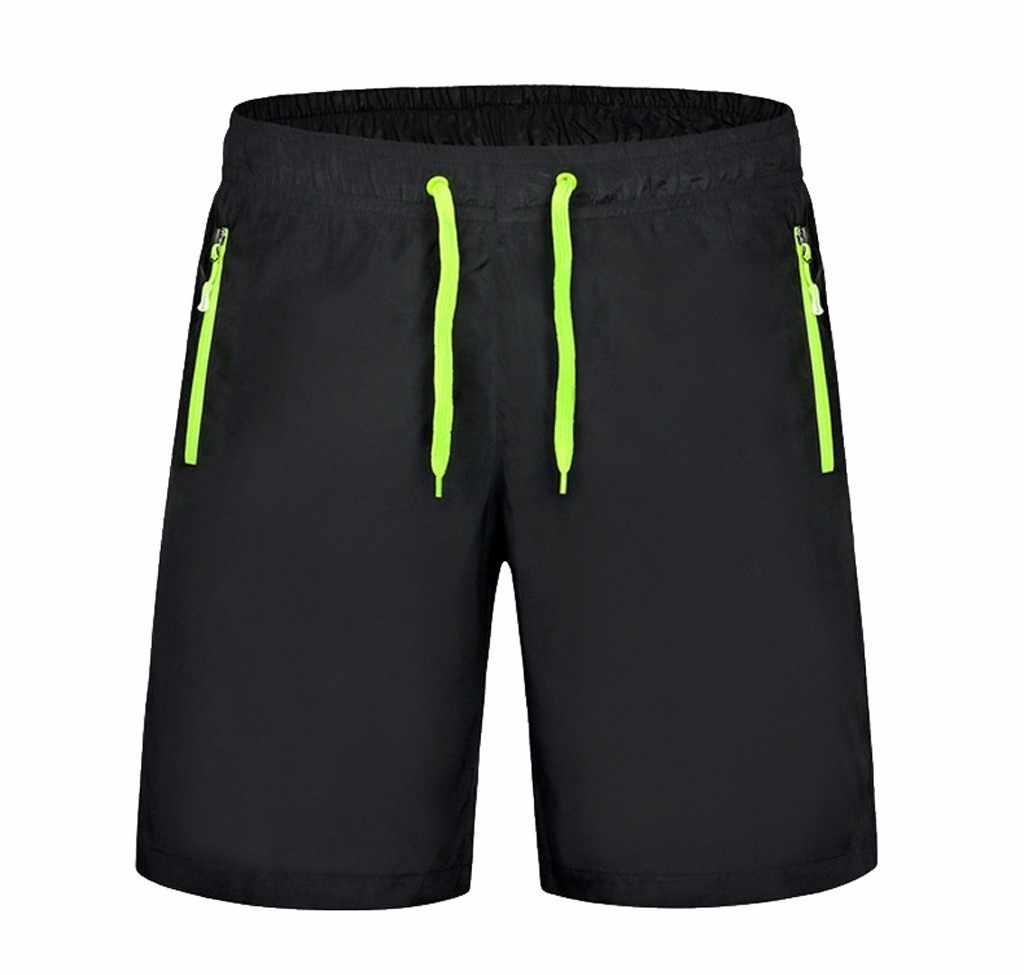 Мужские Гавайские плавки с эластичным ремешком, плавки с карманом на молнии, быстросохнущие, пляжные, для серфинга, для бега, для купания, Короткие штаны для отдыха, хит продаж # A