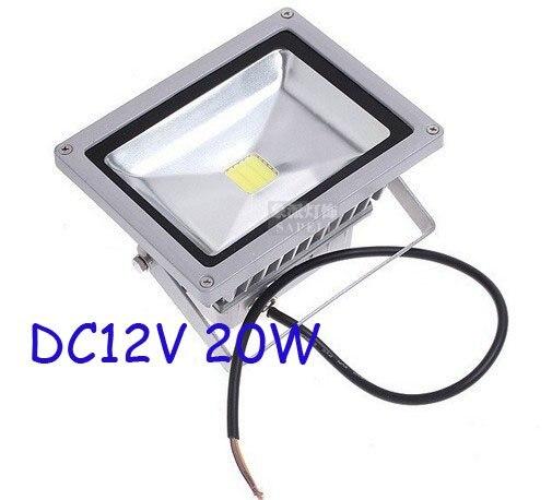 Free shipping 5pcs/LOT DC12V 20W LED FloodLight WhiteWarm White Lighting Waterproof outdoor Floodlight High Power Lighting
