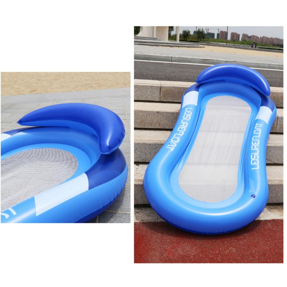US $12.14 40% OFF|2019 New Water Mesh Hammock Pool Float Inflatable Rafts  Swimming Pool Air Floating Chair Water Toys Water Inflatable Beach Mat-in  ...