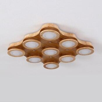 Новейшая Высококачественная деревянная лампа в китайском стиле. Креативный светодиодный потолочный светильник s 9/12, круглый светильник. Ла