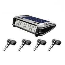 Dongzhen Smart Car TPMS Tyre Pressure Monitoring System Solar Power charging Digital LCD Display Auto Security