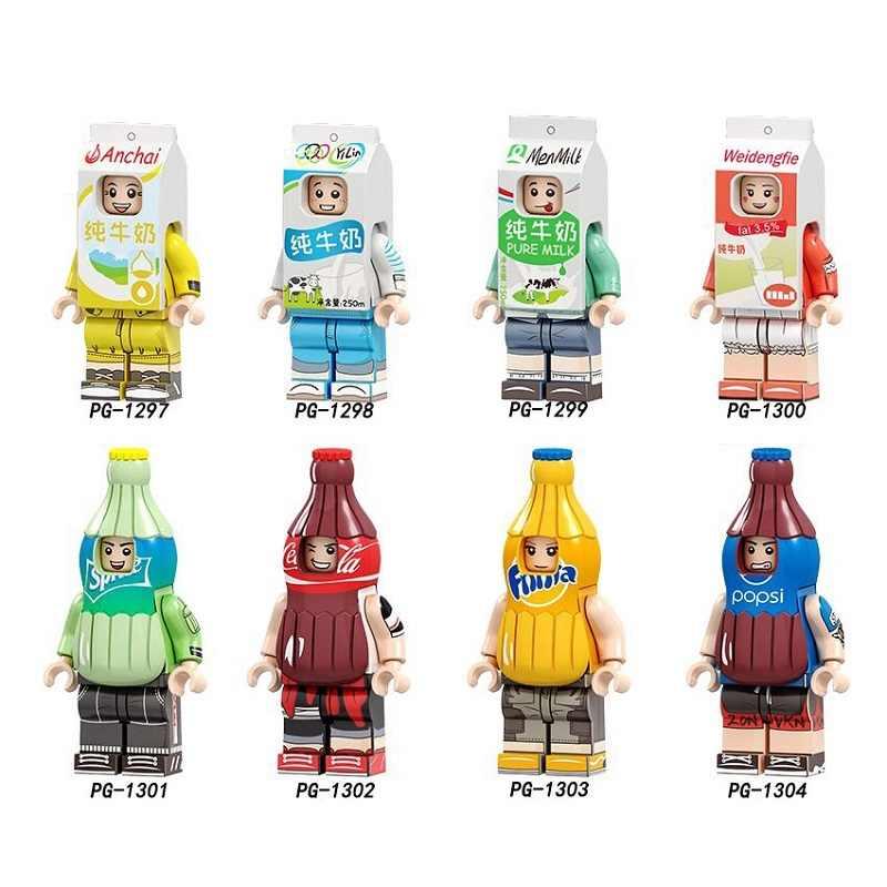 Único Sorvete de Coca Cola Brinquedos Dabao Leite Puro Erbao Disfarçado de Fast Food Fruta Dos Desenhos Animados Blocos de Construção Kit Presentes para As Crianças