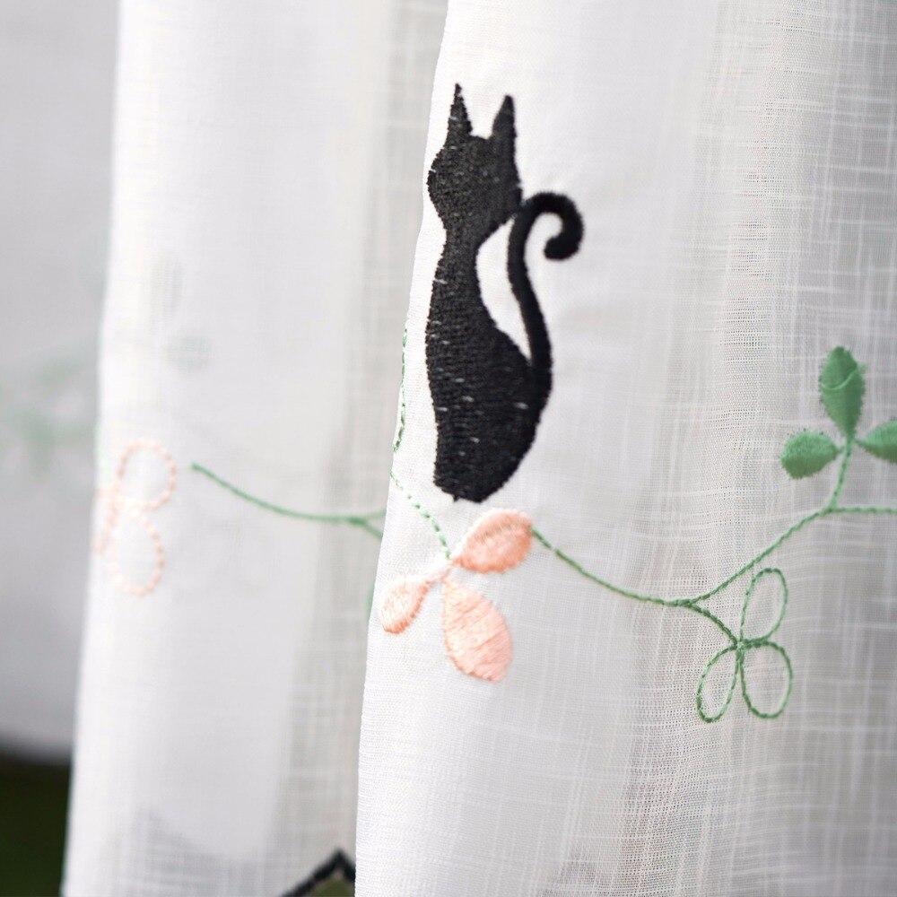 Aliexpress Cute Animal Window Curtains Cat Cafe Curtain