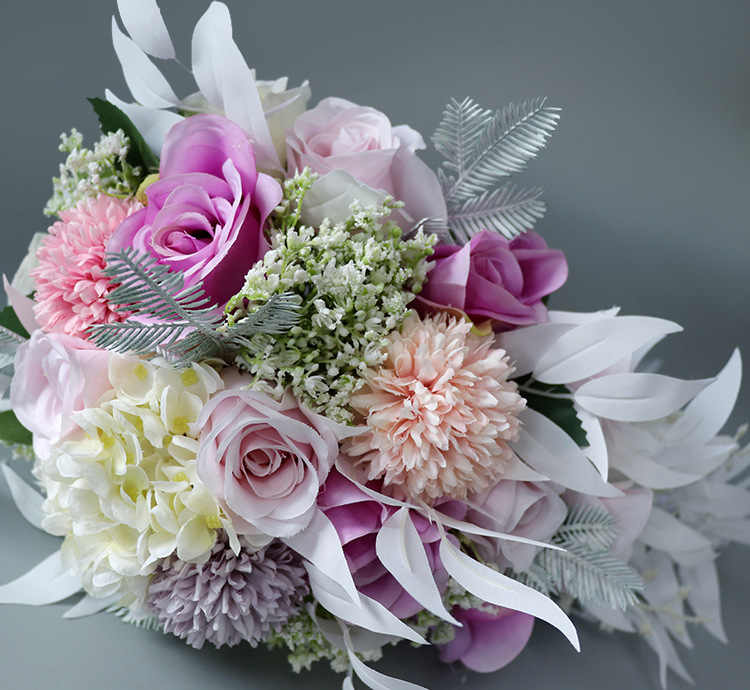 Pengantin Pernikahan Karangan Bunga Berwarna Merah Muda Ungu Air Drop Air Terjun Elegan Pernikahan Buket Carla Lily Pengantin Buket Pengantin