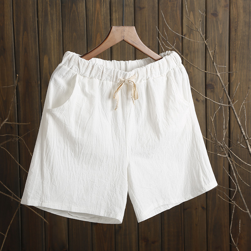 NEW 2019 Summer   Shorts   Women Cotton   Shorts   feminino Women's 9-11 Wasit Home Loose Casual   Shorts   1282-01-08