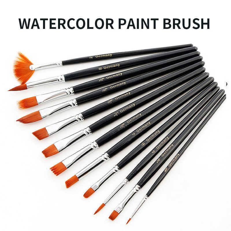 12 шт Профессиональные акварельные кисти для рисования масляными красками акварельные для рисования принадлежности художественные Кисти