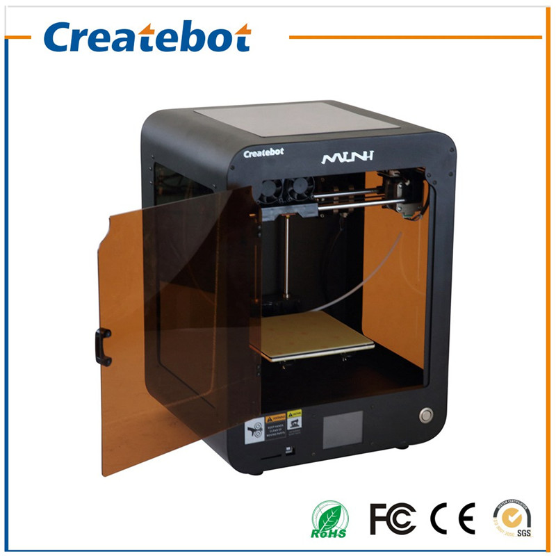 2017 Newest Createbot  Dual Extruder Mini 3D Printer with Extremely Expedite Touchscreen and one ABS/PLA Filament for Free 2017 newest tevo tarantula 3d printer impresora 3d diy impressora 3d with filament micro sd card titan extruder i3 3d printer