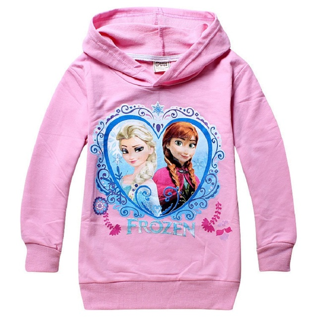Children's Spring Long Sleeve Sweater Elsa Anna Snow White Car Cartoon Printing For Girls Boys 6 7 8 years Kids hoodies Clothing 4