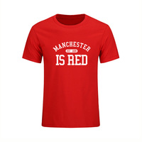 2017 Summer Style Men T Shirt United Kingdom Manchester Is Red Print Slim Fit 100 Cotton