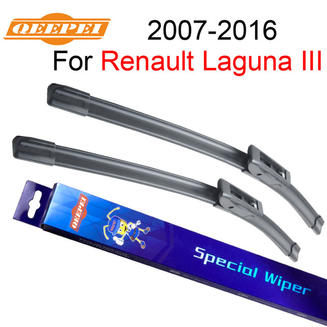 """QEEPEI Renault Laguna 3 limpiaparabrisas 2007-2016 26 ''+ 16"""" accesorios del coche Auto limpiaparabrisas hoja los precios de los CPD106-2"""