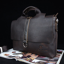 Vintage loopy horse leather-based first layer of cowhide man bag informal real leather-based purse messenger bag 0975