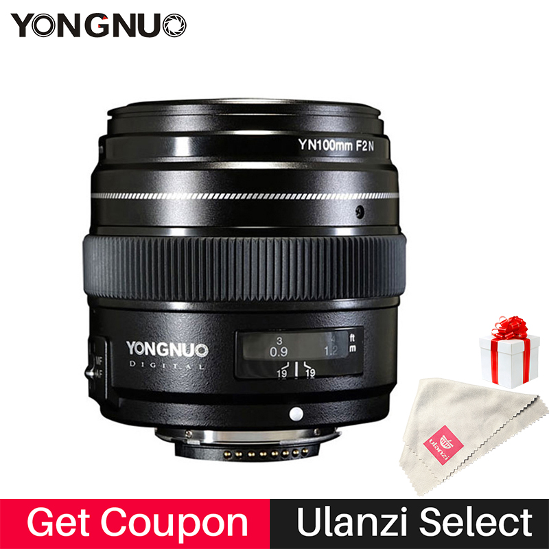 YONGNUO YN100mm 100mm F2N Fixed Focal for Nikon Camera Lens,support AF/MF Large Aperture Standard Medium Telephoto Prime Lens yongnuo yn100mm f2 af mf medium telephoto prime lens fixed focal for canon eos rebel camera ef mounting port 600d 60d 80d 6d5d3