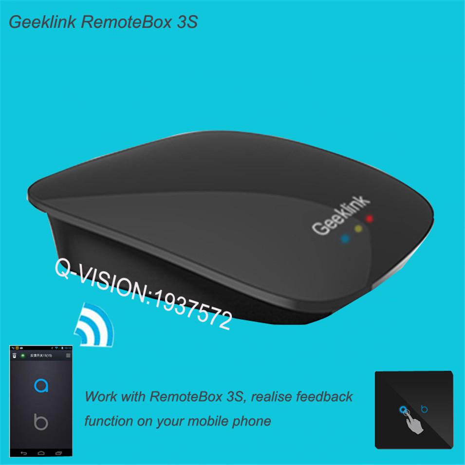Geeklink Remotebox 3S Smart Universal Wireless Control 8-15M Realtime Feedback WIFI+IR+RF AndroidIOS Home Automation 315 433Mhz