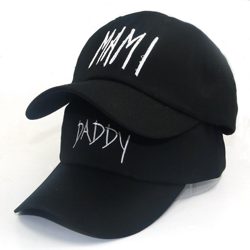 New Daddy Mami Embroidery Hats Unstructured Adjustable Cotton Baseball Caps Dad/Mom Couple Hat Cap Dad Hat Wholesale