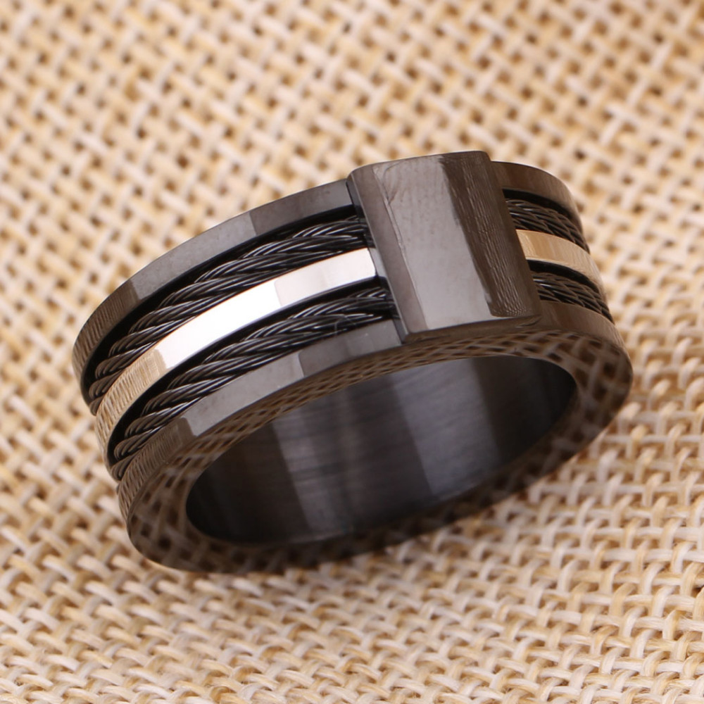 Black Male Unique Ring Wedding Band Tungsten Carbide Ring 12.5mm Man Anniversary Jewelry Size 9# 10# 11# 12# 6