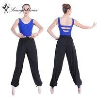 איכות גבוהה מודאלית שחור ספורט ללבוש מכנסיים יוגה בגדי ריקוד בלט רך נשים צועד MD8405