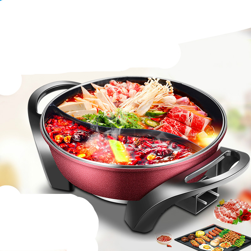 Hot Plates Mandarin duck electric hot pot, korean-type multi-functional cooking pots big simulation mandarin duck a pair resin mandarin duck model about 29x15x16 5cm 1902