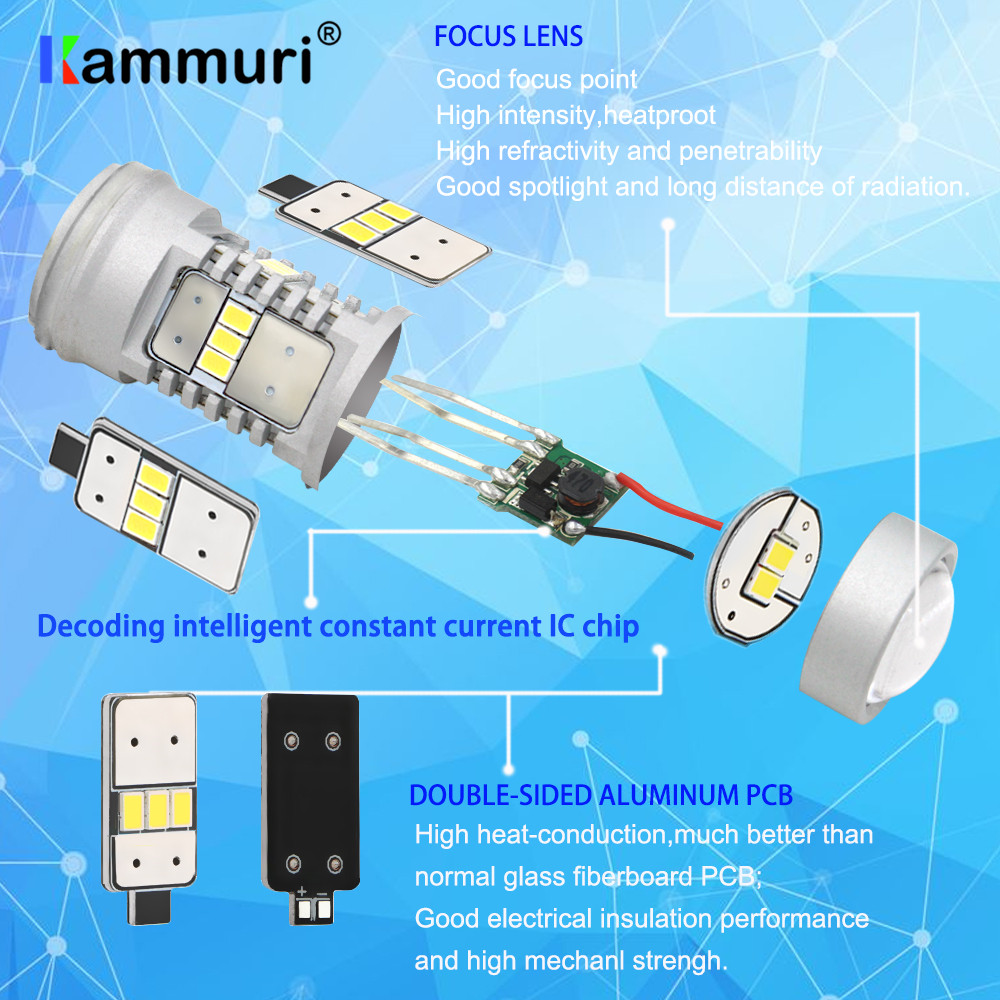 CANBUS No Error H16 5202 PS19W PSY24W LED Bulbs for AUDI A3 8P 2008+ ...