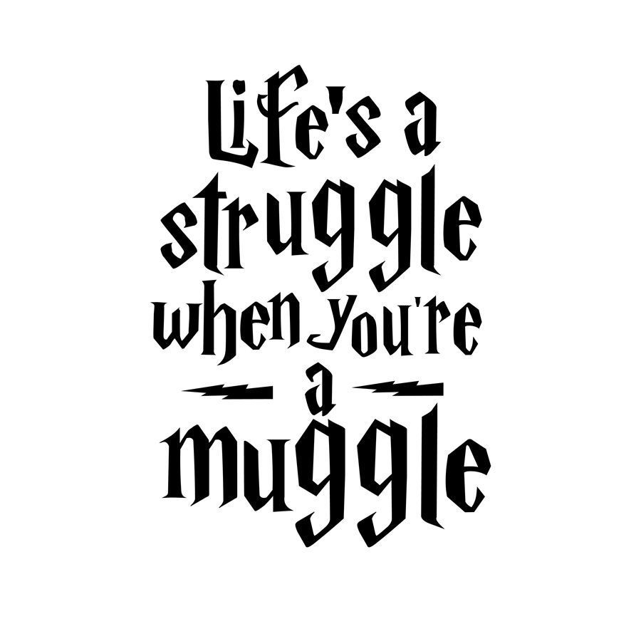 Q041 Life Is A Struggle Harry Potter Quotes Wall Sticker Teens