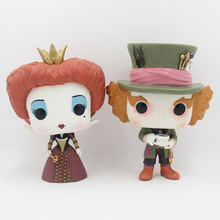 Alice in Wonderland the Queen Iracebeth Mad Hatter 12cm PVC Action Figures Model Toy Collection Doll Decoration