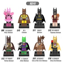 15Set Super Heroes Catman Pajamas Fairy Tartan Joker Clan of The Cave Dress The Batman Minifigures Building Blocks Toys X0147