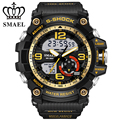 SMAEL Brand Watches Sport Gold Watch Men Dual Time Wristwatch Analog Digital-Watch LED Clock relogios masculino Men Gift WS1617