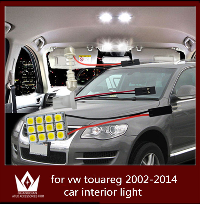 Guang Dian car led light interior light dome vanity light trunk cargo lamp kit T10 festoon for vw touareg accessories 2002-2014 car rear trunk security shield cargo cover for volkswagen vw tiguan 2016 2017 2018 high qualit black beige auto accessories