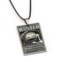 ONE PIECE Anime Necklace 8 Style luffy ace zoro Wanted Poster Pendant friendship Gift Jewelry Accessories YS12039