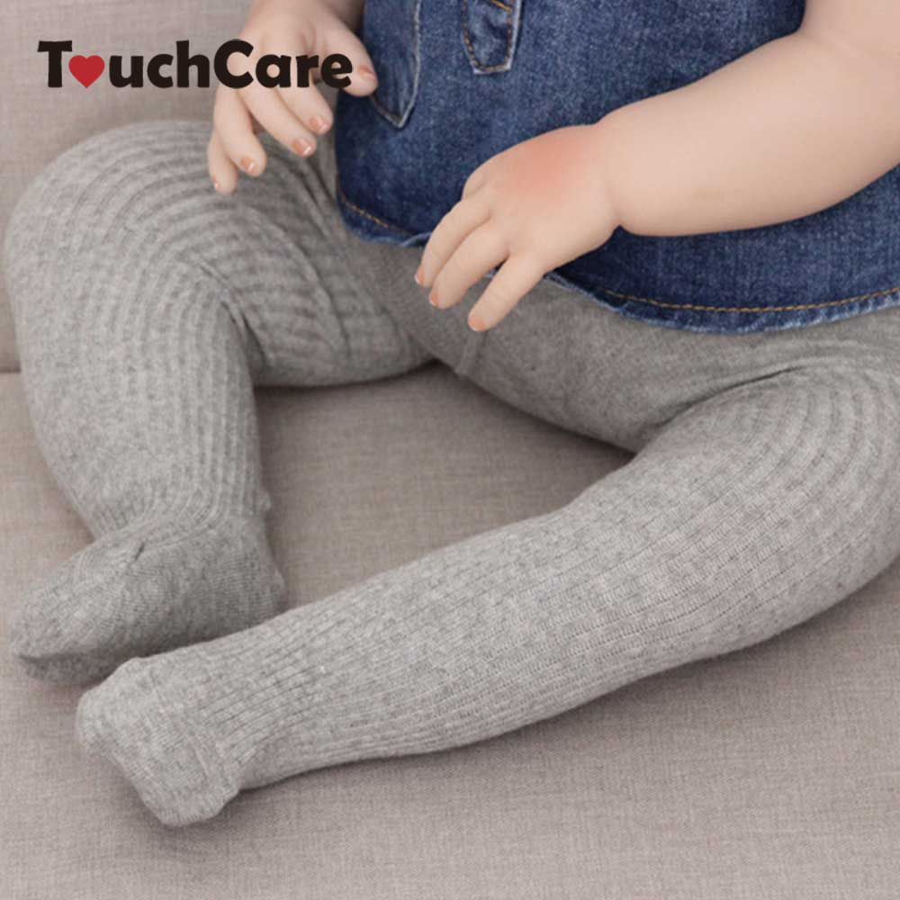 все цены на Touchcare Newborn Rib Knit Baby Tights Kid Dancing Pantyhose Infant Cotton PP Pants Cotton Solid Baby Girl Clothes