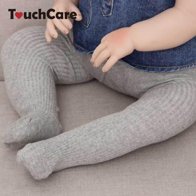 f925441f9 Touchcare Rib Malha Meias Bebê Recém-nascidos Criança Dança Meia-calça de Algodão  Infantil