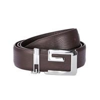 Fashion Genuine Leather Belt Solid Pin Buckle Black Business Soft Men's Belt Cow Leather Luxury Decoration Male Belt G Shape New