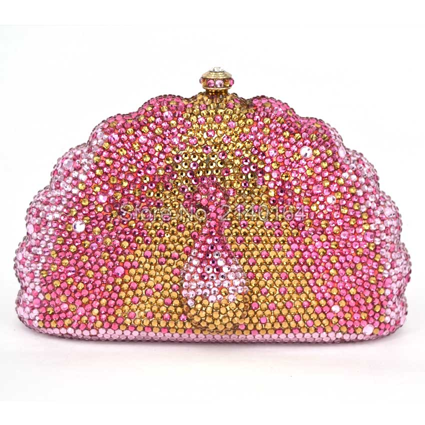 Brown Crystal Evening Bag Clutch diamond pochette soiree peacock Women handbag wedding party purse clutch bag yu19 1 crystal evening bag clutch peacock diamond pochette soiree women evening handbag wedding party purse clutch bag