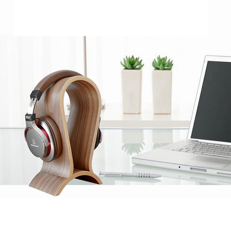 Image 5 - Carbon Wooden Headphone Stand Headset Holder Hanger Universal Earbuds Bracket Display Hanger for All Headphones-in Coat Racks from Furniture